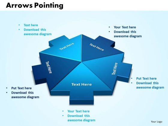 Business Company PowerPoint Templates Arrows Pointing Inwards Chart Ppt Slides
