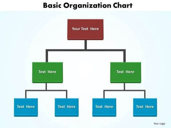 Business Company PowerPoint Templates Business Basic Organization Chart Ppt Slides