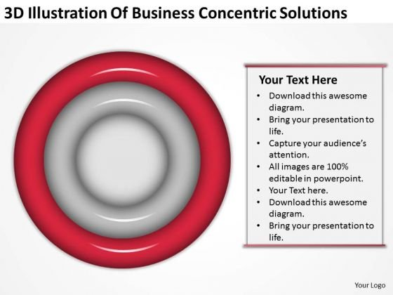 Business Concentric Solutions How To Write A Small Plan PowerPoint Templates