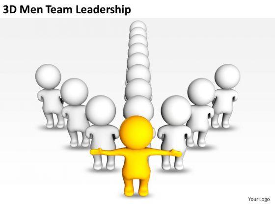 business_concept_diagram_3d_men_team_leadership_powerpoint_templates_ppt_backgrounds_for_slides_2