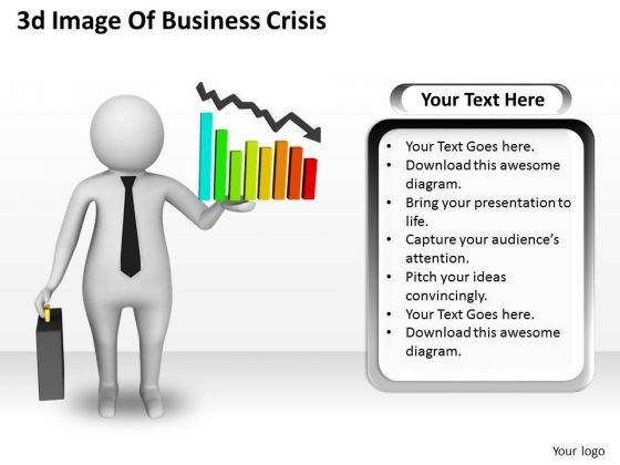 Business Concepts 3d Image Of Crisis Character Modeling