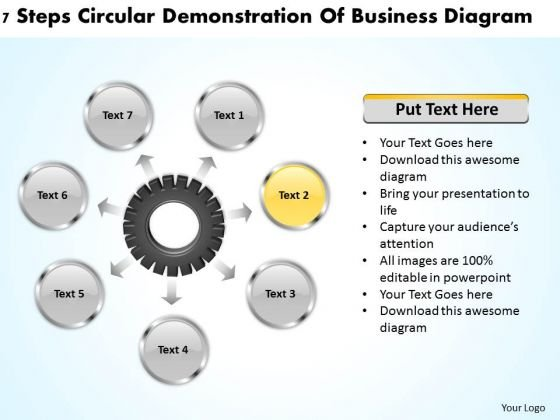 Business Concepts 7 Steps Circular Demonstration Of Diagram Ppt PowerPoint