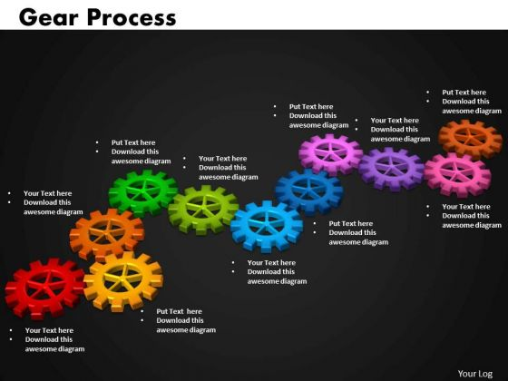 Business Cycle Charts PowerPoint Templates Marketing Gears Process Ppt Slides