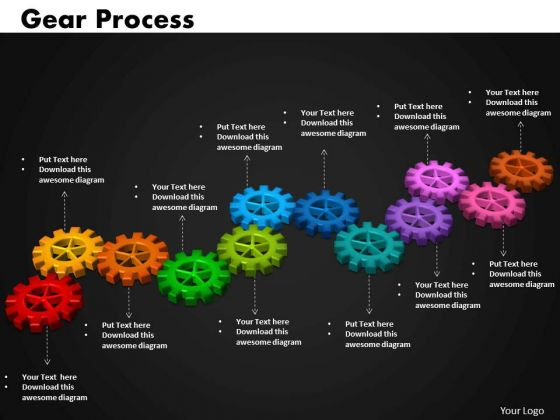 Business Cycle Charts PowerPoint Templates Success Gears Process Ppt Slides