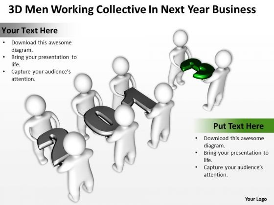 Business Cycle Diagram Collective Next Year PowerPoint Theme Slides