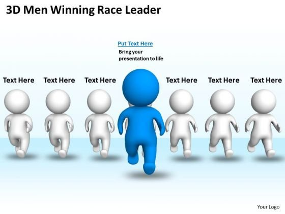Business Cycle Diagram Man Winning Race Leader PowerPoint Templates Ppt Backgrounds For Slides