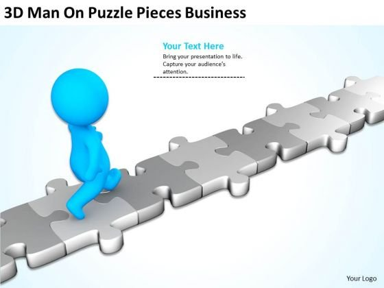 Business Cycle Diagram On Puzzle Pieces PowerPoint Templates Ppt Backgrounds For Slides