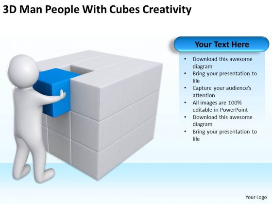Business Cycle Diagram People With Cubes Creativity PowerPoint Templates Ppt Backgrounds For Slides