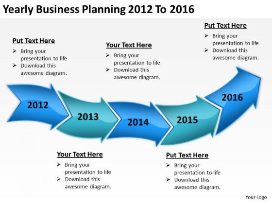 Business Cycle Diagram PowerPoint Presentation Planning 2012 To 2016 Templates
