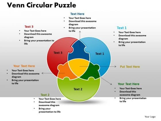 Business Cycle Process PowerPoint Templates Business Venn Circular Puzzle Process Ppt Slides