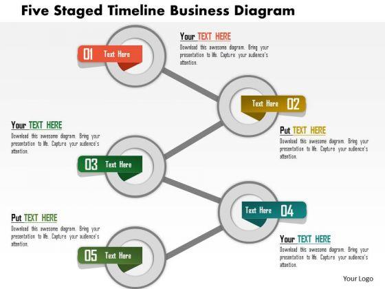 Business Daigram Five Staged Timeline Business Diagram Presentation Templets