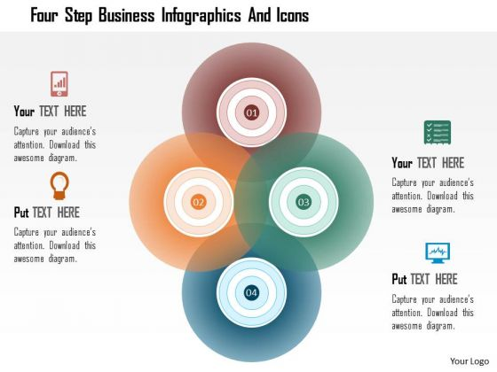 Business Daigram Four Step Business Infographics And Icons Presentation Templets