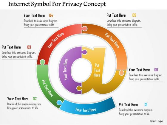 Business Daigram Internet Symbol For Privacy Concept Presentation Templets