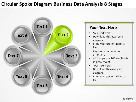 Business Data Analysis 8 Stages Ppt Plan Example PowerPoint Templates