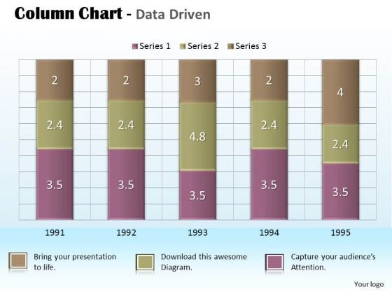 Business Data Analysis Chart For Project PowerPoint Templates
