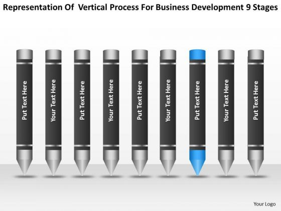 Business Development 9 Stages Ppt Nonprofit Plan Template PowerPoint Templates
