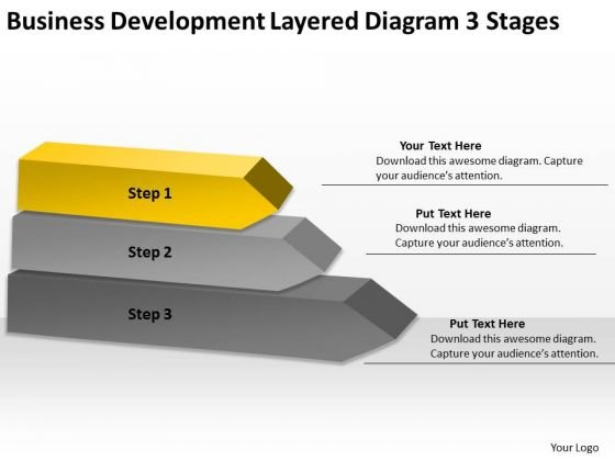 Business Development Layered Diagram 3 Stages Plans That Work PowerPoint Slides