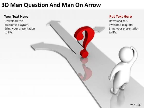 Business Development Process Flowchart 3d Man Question And Arrow PowerPoint Templates
