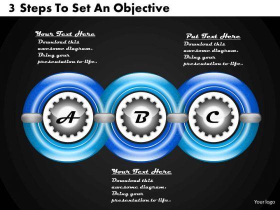 Business Development Strategy 3 Steps To Set An Objective Strategic Planning Models Ppt Slide