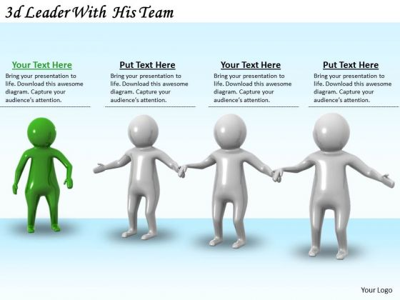 Business Development Strategy 3d Leader With His Team Basic Concepts