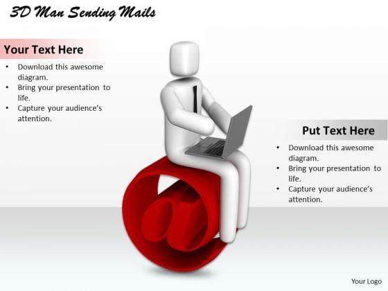 Business Development Strategy 3d Man Sending Mails Character Modeling