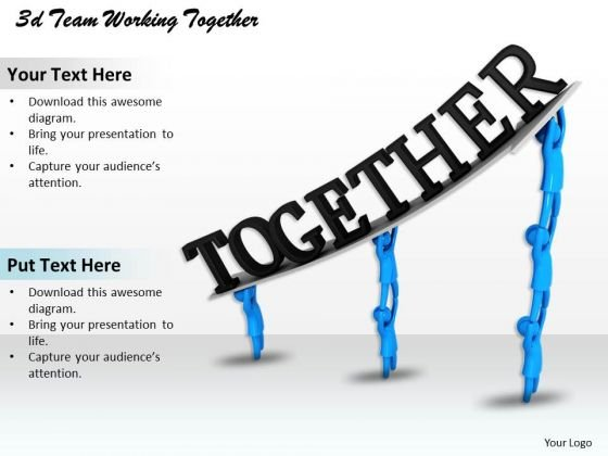 Business Development Strategy 3d Team Working Together Adaptable Concepts