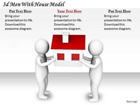 Business Development Strategy 3d With House Model Concept