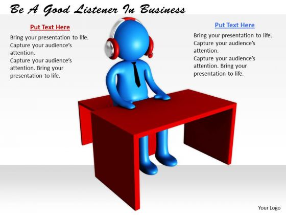 Business Development Strategy Be Good Listener 3d Characters