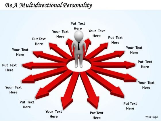 Business Development Strategy Be Multidirectional Personality 3d Characters