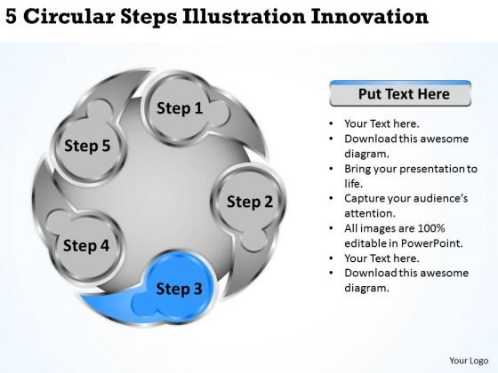 Business Development Strategy Circular Steps Illustration Innovation Growth