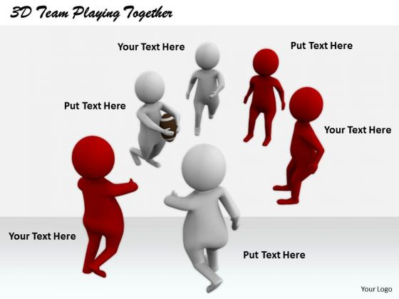 Business Development Strategy Template 3d Team Playing Together Character Modeling