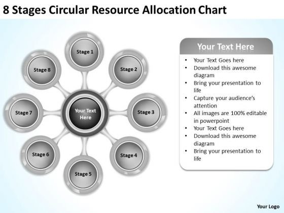 Business Development Strategy Template Resource Allocation Chart Creative Marketing Concepts