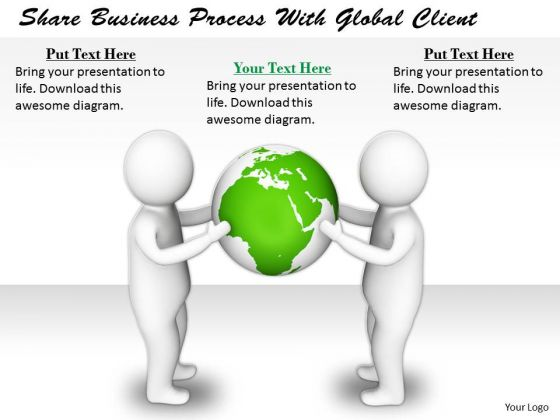 Business Development Strategy Template Share Process With Global Client Concept