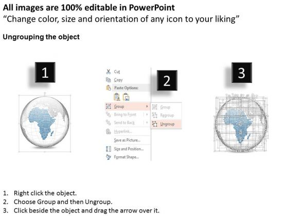 business_diagram_3d_blue_color_africa_highlighted_binary_globe_presentation_template_2