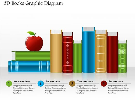 Business Diagram 3d Books Graphic Diagram PowerPoint Ppt Presentation