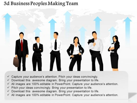 business diagram 3d business peoples making team presentation, Powerpoint templates