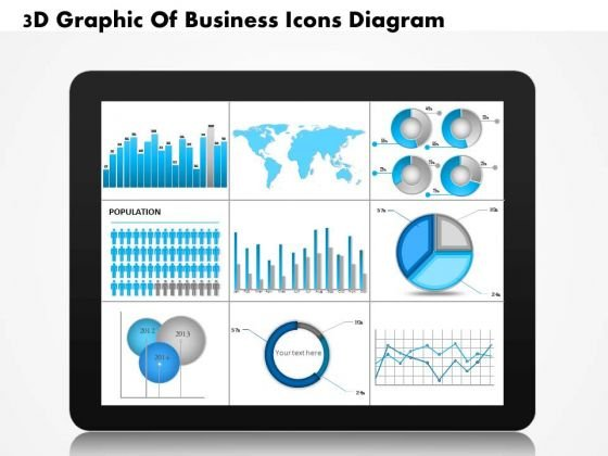 Business Diagram 3d Graphic Of Business Icons Diagram PowerPoint Ppt Presentation