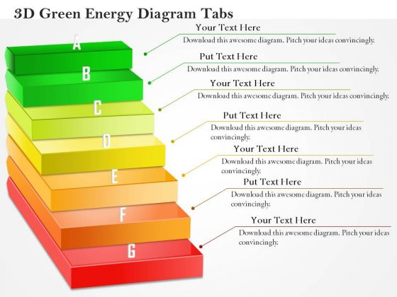 Business Diagram 3d Green Energy Diagram Tabs PowerPoint Ppt Presentation