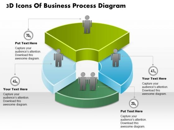 Business Diagram 3d Icons Of Business Process Diagram PowerPoint Ppt Presentation