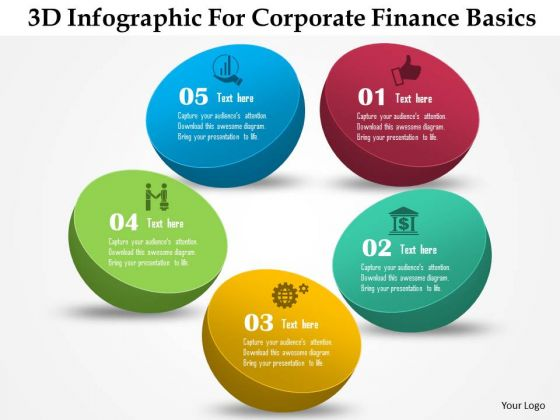 Business Diagram 3d Infographic For Corporate Finance Basics Presentation Template