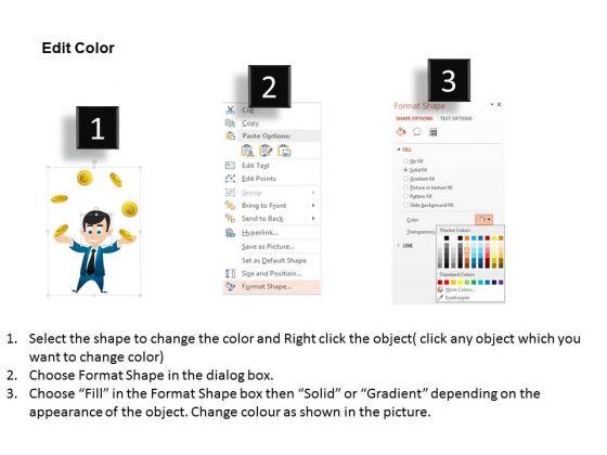 business_diagram_3d_man_juggling_gold_coins_presentation_template_3