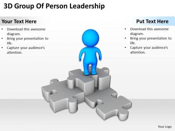 Business Diagram 3d Man On Puzzle Podium PowerPoint Templates