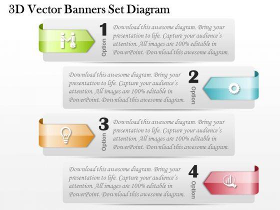 Business Diagram 3d Vector Banners Set Diagram PowerPoint Ppt Presentation