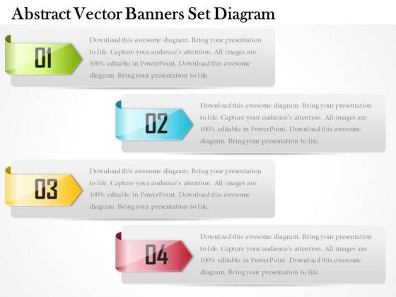Business Diagram Abstract Vector Banners Set Diagram PowerPoint Ppt Presentation