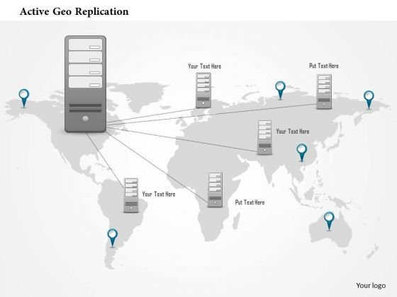 Business Diagram Active Geo Replication One To Many Geographically Distributed Ppt Slide