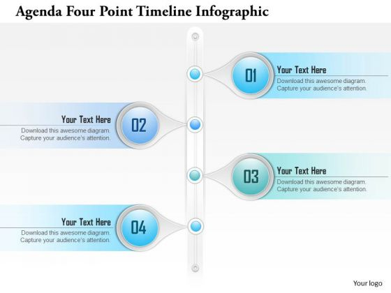 Business Diagram Agenda Four Point Timeline Infographic Presentation Template