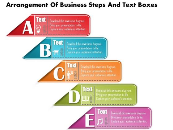 Business Diagram Arrangement Of Business Steps And Text Boxes Presentation Template