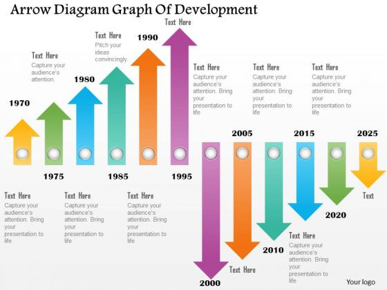 Business Diagram Arrow Diagram Graph Of Development Presentation Template