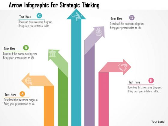 Business Diagram Arrow Infographic For Strategic Thinking PowerPoint Templates