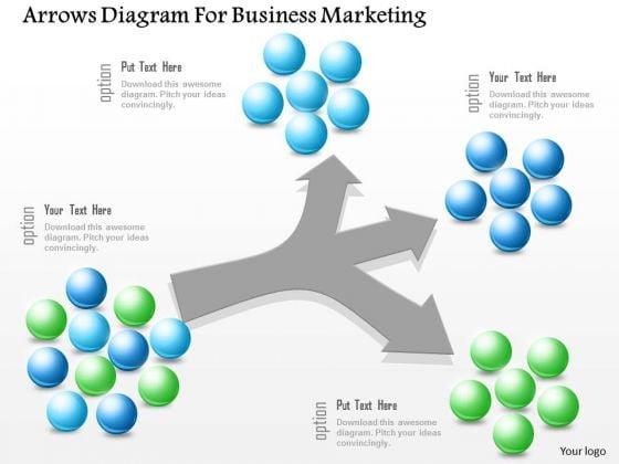 Business Diagram Arrows Diagram For Business Marketing Presentation Template
